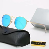 Classic Marque Design Polarized 2021 Lunettes de soleil de Prestige Ray Sunglasses Hommes Pilote Pilote Sun Lunettes UV400 Lunettes Bans Cadre en métal Polaroid Verre Verre 3447 avec boîte
