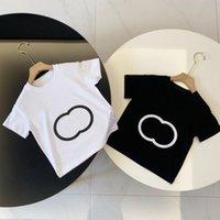 Designer Sommer Kinder Polo T-shirt Kinder T-Shirt Baby Infant Boy Designer Kurzarm Hemden Hemden Tops Mädchen Baumwolle Schwarz Weiß Kleidung Größe 90-130cm