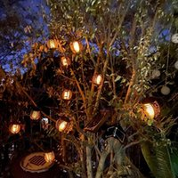 Solar Lamps Outdoor Lantern Garden LED String Light Christmas Waterproof Hanging Decoration Flashing Flame