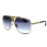 M Beş Yaz Güneş Gözlüğü Erkekler ve Kadınlar için Stil Anti-Ultraviyole Retro Plaka Kare Tam Çerçeve Moda Gözlükler Rastgele Kutu