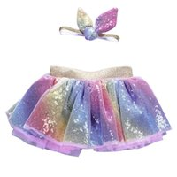 Skirts ARLONEET Todder Kids Girls Ballet TuTu Princess Girl Dance Bling Wear Costume Party Skirt Sequined +Headband J0607
