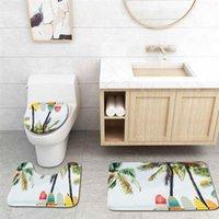 3 шт. / Установить аксессуары для ванной комнаты Душевая занавеска коврик для пола туалетное сиденье четырех частей набор не скольжения постамент 7 узоров 4LZ чехлов