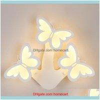 ديكو الإمدادات gardennordic الحديثة أدى مصابيح الجدار الإبداعية فراشة مصباح ديكور غرفة نوم للمنزل داخلي الإضاءة Lihgt غرفة المعيشة قطرة