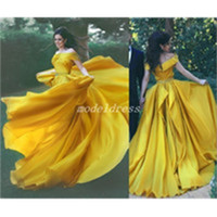 Luxury Zuhair Murad Crystal Dresses Evening Wear 2019 Dubai One Shoulder Rhinestone Formal Gowns Muslim Long Sleeve Gold Prom Dresses3057