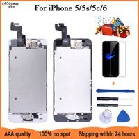 For iPhone 5 5S 5C 6 LCD Display Touch Screen Digitizer Home Button Camera Assembly Replacement 5s Display For iPhone 5S LCD