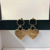 Brąz 925 Srebrny Pin Kolczyki Moda Dla Kobiety Trend Retro Design Kolczyki Najwyższej Jakości List Kolczyki Biżuteria Dostawa