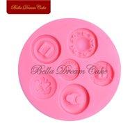 Strumenti per torta pulsante design stampo in silicone fondente zucchero stampi decorativi utensili cioccolato stampo sapone 3d stampi per sapone bakeware SM-1622