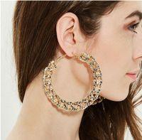 Boucles d'oreilles en forme de CCB en forme de C de la forme en CCB de la mode atmosphère exagérée cercles boucles d'oreilles Modèles d'étoile rétro courtier grand cercle épais chaîne oreille bijoux cadeaux en gros