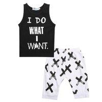 Clothing Sets Summer Boys Clothes 2021 Baby Boy Set Pattern Letter Toddler Plaid Kids Children