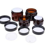 Amber Brown Vidro Rosto Creme Jar Refil Make Cosmético Maquiagem Loção De Maquiagem Contêiner 5G 10G 15G 30G 50G 100G