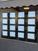 Fenêtre de rétro-éclairé en suspension du câble de câble Affiche la sélection de voyants pour l'agent immobilier, laissez les agents, les lumières du panneau double côté (3Unit / Pack)