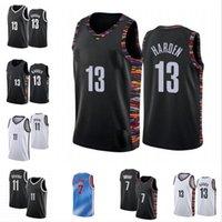 2020-2021 Kevin Kyrie 7 Durant Mens Jersey 11 Ирвинг 13 Город Орден Баскетбол Майки Черный Белый Синий