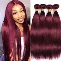 10A Grade 99J Color Virgin hair Burgundy Double drawn quality Hot sales