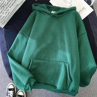 Women's Hoodies & Sweatshirts Zity Basic Sweatshirt Women Solid Color Oversize Hoodie 2021 Harajuku Plus Velvet Winter Casual Long Sleeve Th