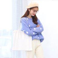 Bolsa de sublimação em branco 35 * 40 cm branco diy bolsa de lona clássico sacos de armazenamento ao ar livre mochila portátil natal novo ano novo