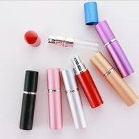 Perfume Bottle 5ml Aluminium Anodized Compact Perfum Aftershave Atomiser Atomizer Fragrance Glass Scent-Bottle Mixed Color