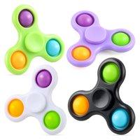 Simples covinha dedotip brinquedo macaron três dedo giroscópio anti-roedente bolha música fidget spinner adhd ansiedade stress relevância sensorial empurrar bolhas brinquedos