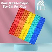 Didget Toys 30см Радуга пузырь сенсорные многоцветные многопользовательские настольные игры аутизм специальные нужды подчеркивание религиозные сжимания для детей семейные игры оптом ворвы игрушки
