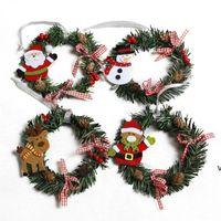 Kardan Adam Noel Süslemeleri Geyik Bez Sanat Çelenk Rattan Reed Garland Dekorasyon Süsler Parti Malzemeleri Ev Dekorasyonu HWB7341