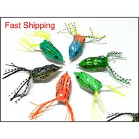 Baits Lures Sports & Outdoorshengjia Frog Lure 6 Colors 20Pcs Soft Sile With Skirt Feather Fishing Tackle 5Dot5Cm 12Dot5G 1#Chicken Hook Dro
