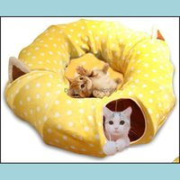 Beds Furniture Pet Supplies Home & Garden Dog Tunnel Bed Mat Metacrafter Collapsible 3 Way Cat Tube Condo Play Toy With Peek Hole Fun Ball I