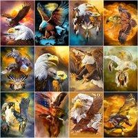 Dipinti Gatyztory Paint by Number Eagle FAI DA TE Pictures Numeri Kit Pittura dipinta a mano Arte Disegno su Tela Regalo Home Decor