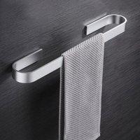 Полотенце стойки алюминиевый сплав настенные стеллажные стойки черный серебряный рельс держатель для хранения полка ванная комната аксессуары для дома