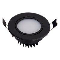 Dimmable anti nevoeiro preto led downlight bulbs cob teto luz ponto 3W 5W 7W 12W 85-265V teto recesso iluminação interna