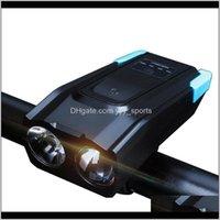 Lumières 4000mah Induction Bicyclette Avant USB Rechargeable Smart Phare Smart avec corne 800 Lumen Bike Light G9 9PVJD