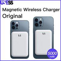 iPhone 배터리 팩 5000mAh 마그네틱 무선 충전 전원 은행에 대한 원본 아이폰 12 프로 최대 8 x 뒷면 배터리 13 충전기