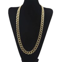 Wholesale 16 18 20 22 24 26 28 30 Inch Ice Out Rhinestone Gold Silver Chain Men's Hip Hop Necklace Gift Fashion Street Shoot With Box