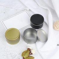 Kapaklı Mum Kavanozlar Mini Kalay Kutusu Mühürlü Kavanoz Ambalaj Kutuları Takı Şeker Küçük Depolama Kutuları Para Küpe Kulaklıklar Bavul HWB8567