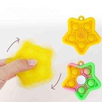 Finger Silicone Fingertip Keychain Fidget Brinquedo Simples Brinquedos Bubble Chaveiro Push Board Push Stress Relevo Decompression Decompression Bubbles G57czcn