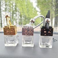 Car Hanging Air Freshener Diffuser Empty Perfume Bottle Fragrance Clear Glass Essential Oil Bottles(only Empty)