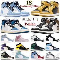Air Jordan 1 Retro 1s aj1 jordan Rookie jordans men J Balvin x jumpman 2021 high OG University Blue Basketball shoes Colores Vibras dye Pine Hyper Royal women sneakers Silver