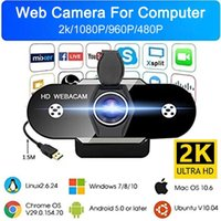 Webcam 2K with Microphone Monitor Plug & Play USB Web a Video Camera For pc Computer Skype etc Calling 210608