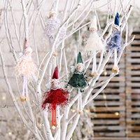 크리스마스 춤 천사 인형 펜던트 크리스마스 트리 매달려 장식품 봉제 엘프 휴일 새해 선물 DWB11251
