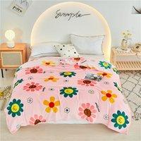 Decken LRea Sunflower Decke Wirf das Sofa warme erwachsene Mode gestreifte Bettdeckendeckel auf dem Bett