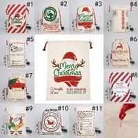 أكياس عيد الميلاد سانتا أكياس قماش القطن كبير الثقيلة الرباط هدية أكياس شخصية مهرجان حزب عيد الميلاد الديكور سفينة البحر FWE8193