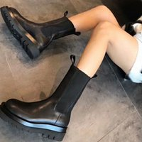 Designer Martin short boots women's winter French all-match thick-heeled tube spring and autumn single thick-bottomed Chelsea chimney