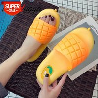 2020 New Summer slippers women Mango shoes bathroom home Indoor slides mules Non-slip PVC ladies sandalias zapatos de mujer #8B2A