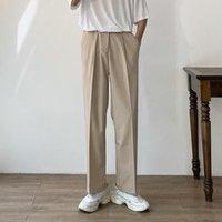 Men's Suits & Blazers Mens Zippered Pockets Pants Dress Business Casual Trousers Slacks Men Suit