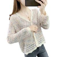Knits Ladies Knitted Cardigan Sweater Spring Autumn Knit 2021 Women's Jackets Knitwear Fashion Coat Female Sweatshirt