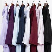 Hommes Casual Shirts Shan Bao 2021 Entreprise d'été Chemise à manches courtes plus à manches courtes et Bureau de la taille professionnelle Poids léger 8 couleurs