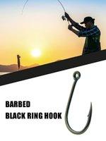 Fishing Hooks BeILI 100pcs Fish Hook Set Carp Jig Head High Carbon Steel Worm Soft Bait Freshwater Saltwater Barb