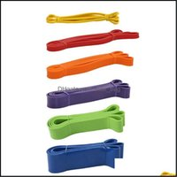 Equipments Supplies & Outdoors208Cm Fitness Pl Up Assist Rubber Bands Heavy Duty Resistance Band Yoga Elastic Loop Expander For Workout Spor