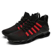2021 أزياء الرجال أحذية رياضية الصيف تصميم الرجال أحذية عارضة شبكة تنفس ضوء تنفس masculino adulto حجم b32