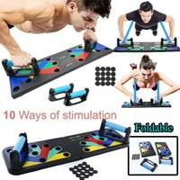 10 In 1 Push Up Rack Board Foldable Men Home Gym Office Bodybuilding Fitness Push Up Stand Rack Board Training System Equipment X0524
