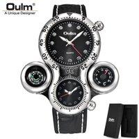Orologi da polso Oulm HP1149 Orologio da polpo Design unico orologi sportivi uomini due fuso orario orologio da polso Bussola decorativa di lusso orologio al quarzo maschio