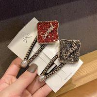 Accessori per capelli Sweet Elegante Strass Strass Crystal Torcini Geometrici BB Clips Pin gioielli di lusso copricapo per le donne ragazze